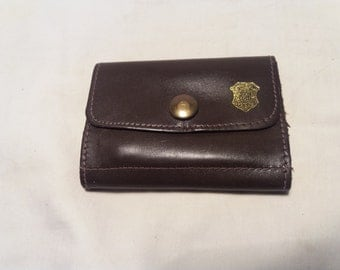 Vintage Dark Brown Leather Pouch for Keys - NEW