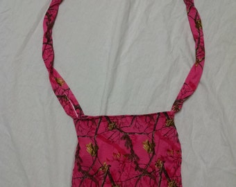 Pink Camo Purse Cross Body Bag