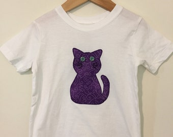Kitty Cat Appliquéd T Shirt or Onesie