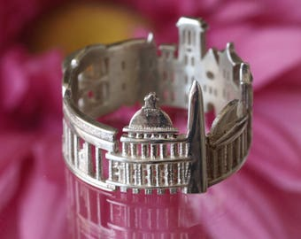 Washington DC Cityscape - Skyline Statement Ring - Gift for Him -  Romantic Gift - Shekhtwoman - Unique Jewelry - Mothers Day