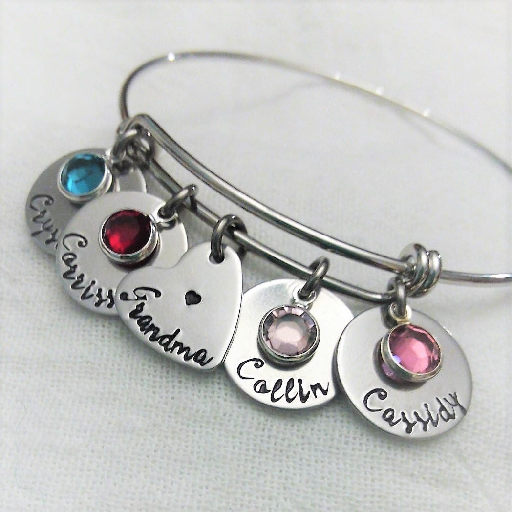 personalized grandma bracelet grandma jewelry grandma. Black Bedroom Furniture Sets. Home Design Ideas