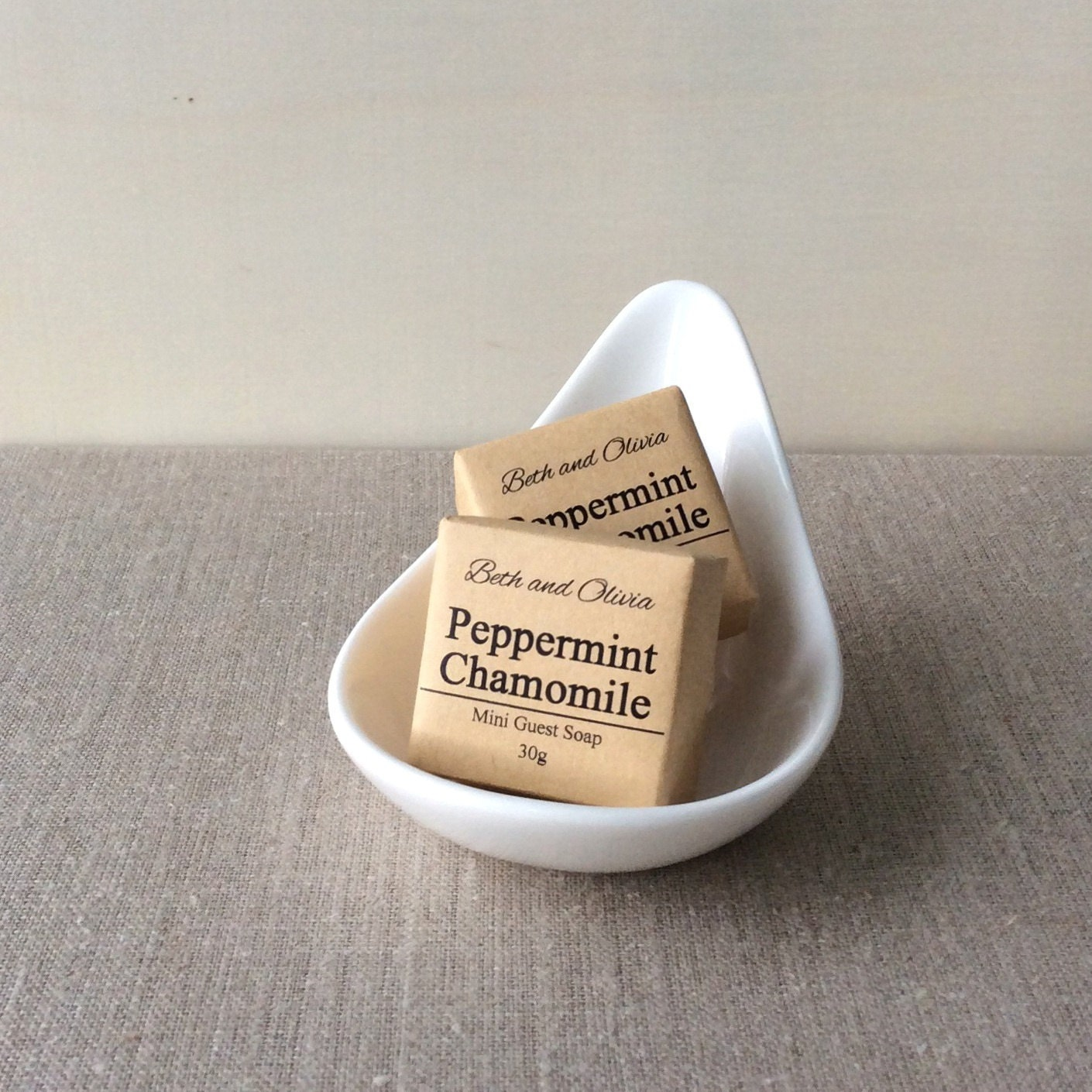 Peppermint chamomile Mini Guest Soap, wedding favors, soap favors, peppermint soap, chamomile soap, mini soap, bridal shower favors,