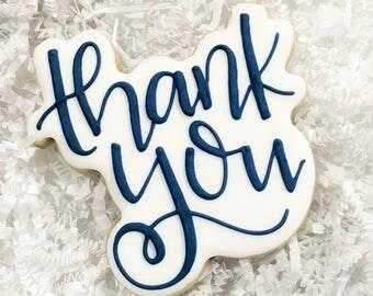 Thank You Favor Cookies - (12) One Dozen