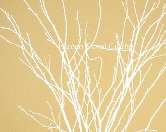 2-2.5ft Snowy White Birch Branches, 12-15 stems