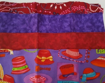 4 Red Hat Society Themed Fat Quarters Set, 4 Fat Quarters, 100% Cotton
