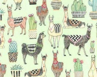 Lovely Llamas in Mint from Michael Miller Fabrics