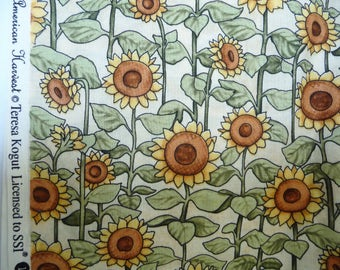 "American Harvest SUNFLOWERS Fabric 1/2 yard 44/45"" wide 100% Cotton sun flowers   quilting sewing quilt summer"