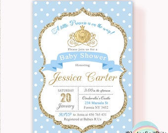 Amazing Princess Baby Shower Invitation, Cinderella Baby Shower Invitation, Girl Baby  Shower Invitation, Carriage