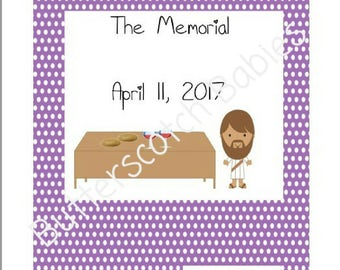 JW Memorial, Memorial Workbook, JW, JW kids, Meetings, Memorial of Jesus Death, Nisan 14, Family Worship