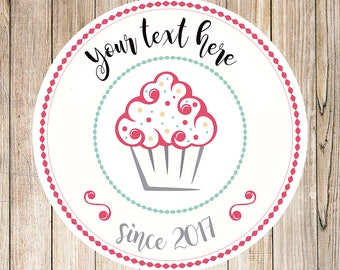 Custom Labels, log stickers,bakery labels, bakery logo stickers