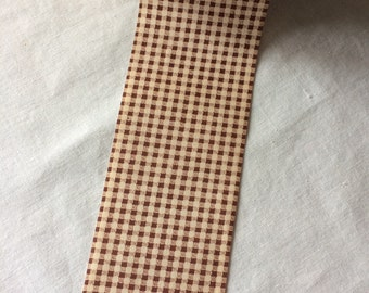 """Vintage Wide Brown and White Gingham Craft Ribbon 2-5/8"""" wide x 42-1/8 yards long by Lion Ribbon"""
