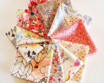 Ladies Handkerchiefs, Set of 10, Prints, Modern,Flannel Handkerchiefs, Reusable Tissues,Paperless Hankies,Womens Handkerchief WH821