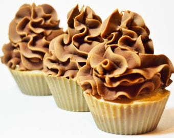 CHOCOLATE CUPCAKE DREAM Natural Handmade Milk Soap, Australian Milk Soap, Kansha Botanicals
