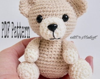 PDF Pattern altErMuligt's baby Bear approximately 10 cm