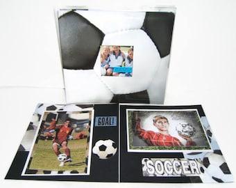 Soccer Photo Album - Soccer Scrapbook Album - Premade Soccer Album - Premade Soccer Scrapbook -  Sports Scrapbook - Coach Gift Idea