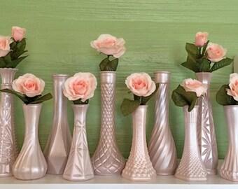 Rose Gold, Blush, Gold Wedding, Pink Vases, Petal, Rose Gold Centerpieces, Rose Gold Bud Vase, Rose Gold Decor, Metallic