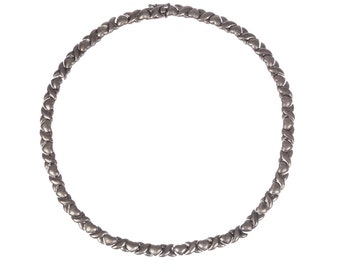 Sterling Silver Sweetheart Eternity Necklace