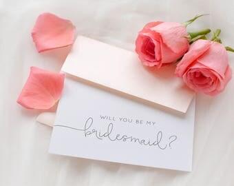 Be My Bridesmaid Card, Bridesmaid Wedding Card, Will You Be My Bridesmaid Card, Wedding Stationery