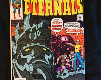 The Eternals # 1 & 2 UK Edition - Jack Kirby - First Printing 1976 - First Celestials Appearance Vintage - GOOD-VG Marvel