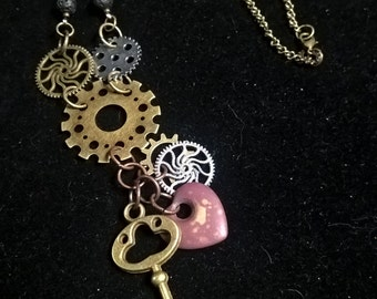 Steampunk Sectional Charm Necklace