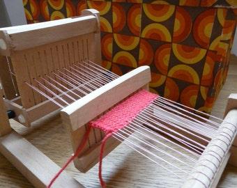 Cute Operational Mini Vintage Wodden Loom - Russia 80s - Carinissimo Funzionante Mini Telaio di Legno Vintage
