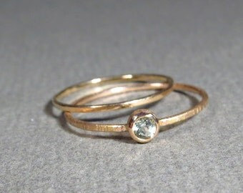 tender! 18 k pink gold - light blue Beryl, aquamarine