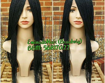 In stock for immediate shipping.Braided Wig, Braidswig. Senegalese Twist. BLACK or your colour.Braidwig, Braidswig 20/24 inches