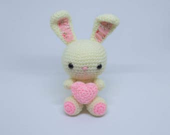 Crochet Bunny, Amigurumi Bunny, crochet Rabbit, crochet new baby gift, Mothers Day bunny, READY TO POST 2-3 days
