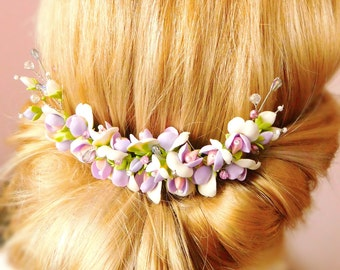 Wedding hair piece Bridal hair flower Bridal hair comb Hair jewelry Bridal headpiece Decorative comb  Bridal hair Flower hair comb