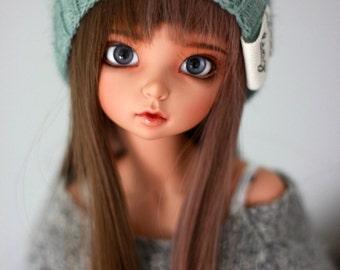 "minifee 7-8"" green knit beanie"