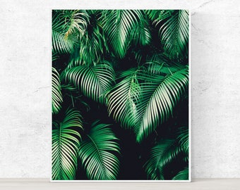 Tropical printable wall art with instant download, Tropical Printable Art, Tropical Digital Art, Tropical Plant Print, wall art, home decor