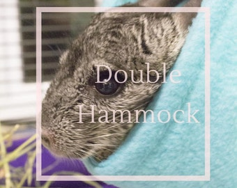 DOUBLE HAMMOCK -  Safe Anti Pill Fleece Double Hammock Honeycomb for Rats Chinchillas and other small animals