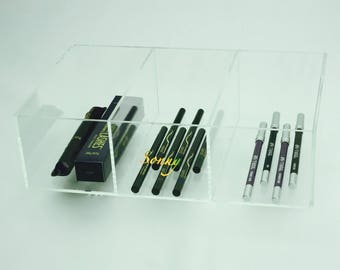 Acrylic Makeup Organizer FITS Ikea Alex 3 Halfsie Organizer for Eyeliners, Mascara, Concealer Foundations