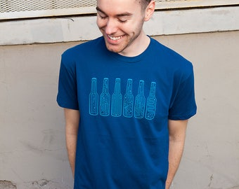 Technology shirt, BAR CODE T-shirt, Tech Guy, Gifts for Guys, Beer shirt, Story Spark t shirt, Bottles, Circuitry, Engineer Gifts