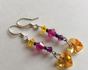 My Little Pony Princess Cadence Swarovski Crystal earrings