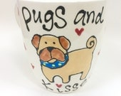Hand Painted Pugs and kis...