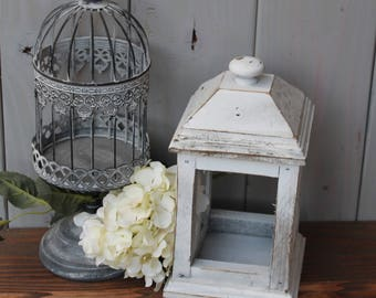 rustic lantern - handmade lantern - wood lantern - rustic decor - wedding centerpiece - farmhouse decor - rustic home decor