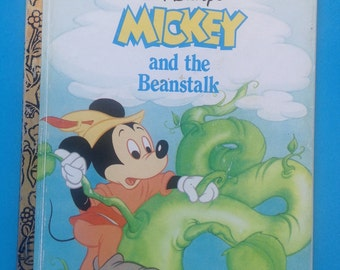 Little Golden Book - Walt Disney's Mickey and the Beanstalk/ Classic Story/Printed in USA/Children's Book