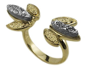 Gold Druse and Silver Druse Cocar Ring