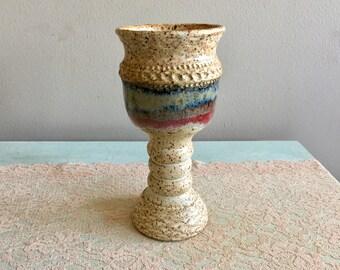 Stoneware Goblet, Pottery Goblet, Ceramic Wineglass, Stoneware Chalice, Ceramics and Pottery Cup