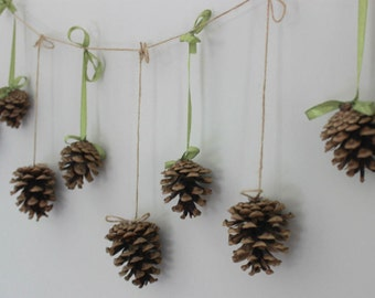 Natural Pine Cone Garland, Autumn Fall Wedding Decor, Woodland Wedding Party Garland, Thanksgiving Decor, Natural Fall Decor, Holiday Decor