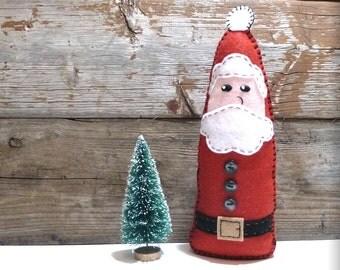 Santa Hand Sewing Pattern, Christmas Decoration, Plush Santa Claus Sewing Pattern, Felt Father Christmas Pattern