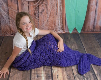 Adult Mermaid Tail Blanket, Child Mermaid Tail Blanket, Toddler Mermaid Tail Blanket