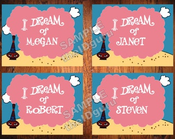 I Dream Of Jeannie Personalized Print >>>Unframed<<< - Custom Printed With Any Name You Want!