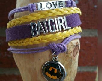 Infinity love Batgirl bracelet