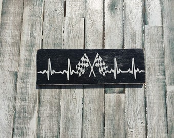 Checkered Flag, Racing EKG, racing heartbeat