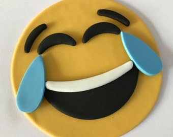 Emoji Laughing Inspired Cake Topper-Fondant