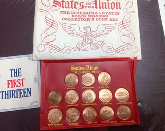 The state of the Union 13 original states sold bronze collectors set