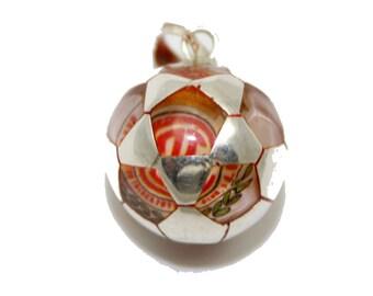 Diablos Rojos del Toluca Mexico Soccer Ball  Pendant .925 Sterling Silver- Mexico Taxco Silver