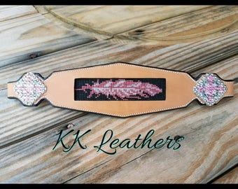 Beaded Feather Nosebsnd W/O Halter